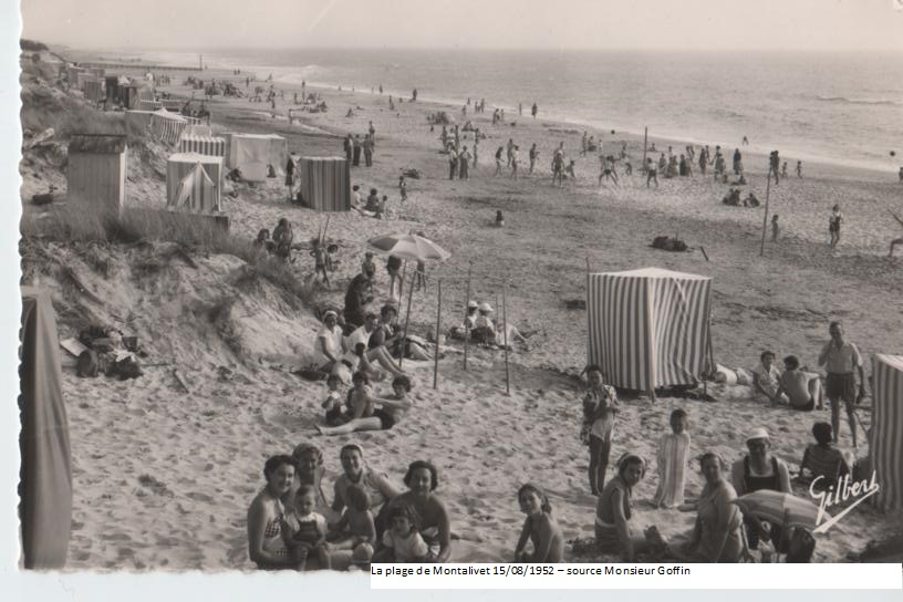 15 aout 1952 Montalivet les bains - source Famille Goffin