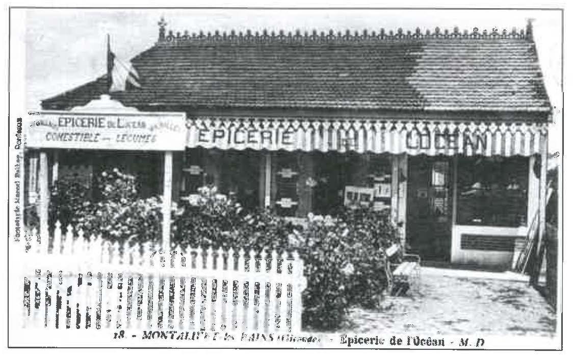 Montalivet les bains épicerie de l'océan années 1900-1920