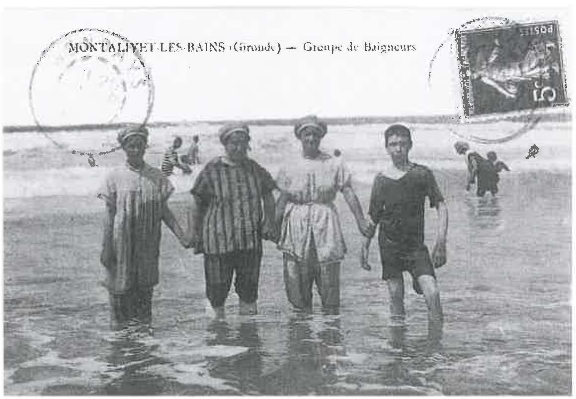 Montalivet les bains les baigneurs années 1900-1920