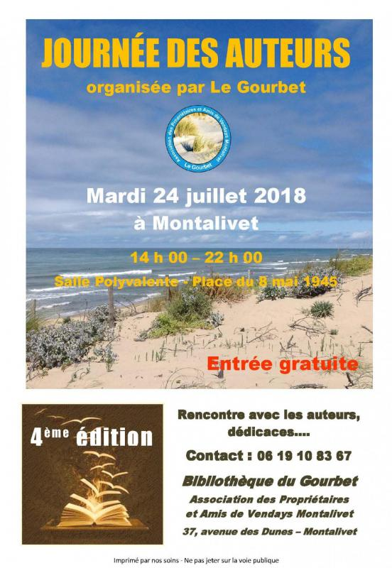 Affiche journee auteurs montalivet 2018