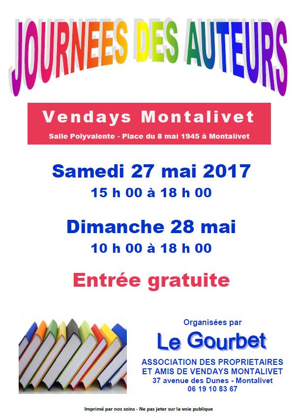 Journées des Auteurs les 27 et mai Mai à Montalivet